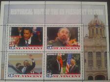 historical visit of us President Obama to havana, Castro's st vincent 2016