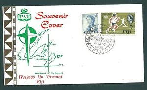 FIJI 1967 Illustrated 180 degree Meridian First Day Cover (a)