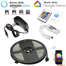 16.4ft RGB 150LED Alexa Smart Home WiFi Wireless LED Strip Lights Neon Light Kit