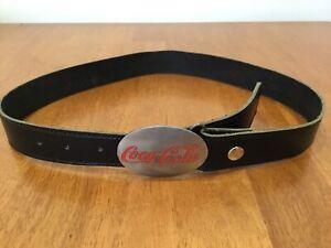 Siskiyou Vintage Coca-Cola 1992 Black Leather Belt and Buckle #331