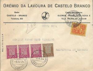 PORTUGAL - 1954 cover CASTELO BRANCO TO SALVATERRA DO EXTREMO - Postage Due