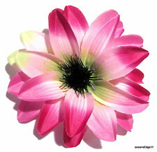 """Variegated 4.75"""" Fuchsia Water Lily Poly Silk Flower Hair Clip,Pin Up,Updo,Hat"""