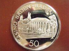 Baden-Baden Casino Black Forest Germany Franklin Mint Silver Gaming Token Mint