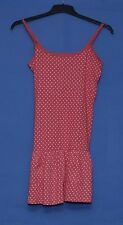 ~RED STRAPPY DRESS WITH PINK HEART PATTERN~SIZE 10 - 12~