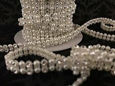 Wedding Rhinestone Trimming Pearl Craft Supplies Multipurpose Projects 5 Yards