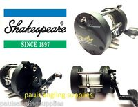 Shakespeare Firebird Right Hand Wind Multiplier Reel For Boat Fishing With Line