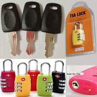 New Travel Luggage Bag Customs Lock TSA 007 Key + Lock Security Lock TSA
