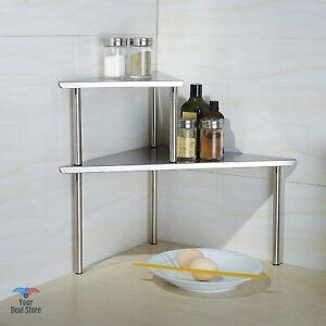 Small Corner Shelf Countertop Organizer Shelves For Kitchen Spice Storage Rack