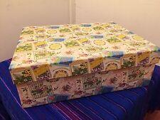 . Large GIFT BOX floral eau de toilette designs 46x35x16cm