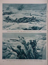 WW1 SNIPER IN SNOW CAMOUFLAGE; MILITARY BAND IN ARRAS (1 SHEET, BOTH SIDES)