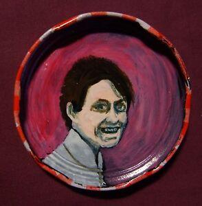 HARPER LEE, Jam Jar Lid Portrait, LIterary New Orleans Outsider Art by PETER ORR