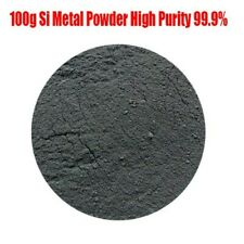 Si Silicon Powder Supplies Useful 100g Metal Pure Refractory Science Dust