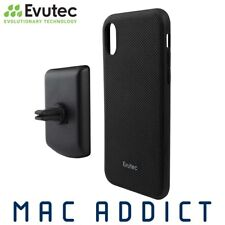 Evutec Aergo Ballistic Nylon Case W/ Afix Vent Mount for iPhone XR - Black