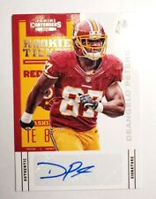 2012 Panini Contenders/550 #126 Rookie Ticket Deangelo Peterson Auto RC Card