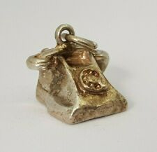 Vintage Sterling Silver Charm Pendant - Telephone
