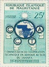 MAURITANIA MAURETANIEN 1960 162 117 C.C.T.A Emblem Afrcian Cooperation MNH