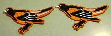 Lot of 2 Baltimore Orioles  Embroidered  Patches     NEW
