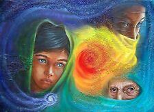 Il cerchio della vita - PEZZO UNICO - tecnica mista su tela 70x50 -ARTE IN SALDO