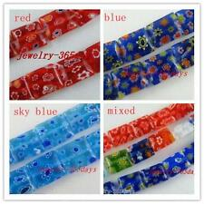 Millefiori Glass Rectangle Spacers 8x10mm/10x12mm/10x14mm
