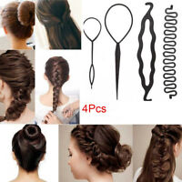 4Pcs Magic Hair Styling Accessories Set Braiders Hair Pin Curler Styling Tools
