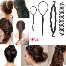 4Pcs Hair Braiding Tool Magic Disk Hair Stick Tool Hair Clip Twist Style Barber