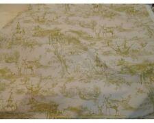 10 mètres de la chasse, pays Pictorial Toile de Jouy rideau tissu en Olive
