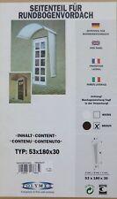Polymer Seitenteil für Rundbogenvordach Braun 180 x 53 x 30 cm Vordach 170663