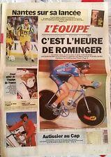 L'Equipe Journal du 22-23/10/1994; Nantes/ Rominger/ Crost/ Autissier/ Roux