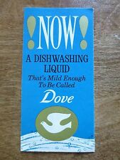 1960s Dove Dishwashing Liquid Dish Soap Advertising Foldout Lever Brothers