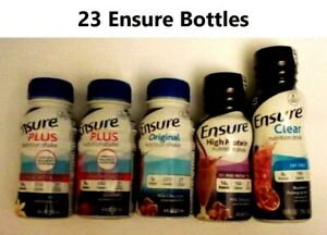 23 Ensure Plus/High Protein/Clear/Vanilla/Strawberry/Chocolate/Blueberry Pomegra
