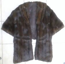 Vintage Dark Brown Mink Stole, Shrug, Shawl, Capelet, No Size or Maker Mark