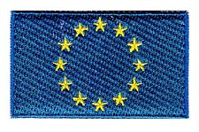EU Flag Small Iron On / Sew On Patch Badge 6 x 3.5cm E.U. European Union AIRSOFT