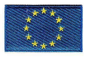 EU Flag Small Iron On / Sew On Patch Badge 6 x 3.5cm E.U. European Union AIRSOFT
