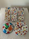 New Years Eve 5 Vintage Rattle Noise Makers Shakers Toy Lot (2 U.S. Metal Toy)