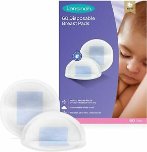 Lansinoh Pack of 60 Disposable Nursing Breast Pads Individually Wrapped