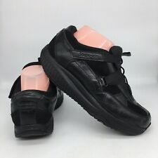 Skechers Shape Ups Womens Black Leather Lace Up Strap US 8.5