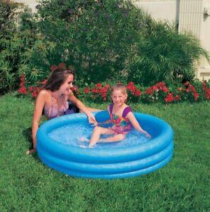 Intex Crystal Bleu Natation Pataugeoire pour les Enfants Piscine Env.