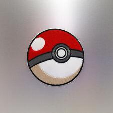Pokeball Patch — Iron On Badge Embroidered Motif — Go 3D Pokemon Fun Poke Ball