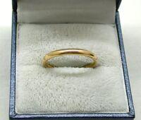 Vintage 22ct Gold Plain Narrow Wedding Ring
