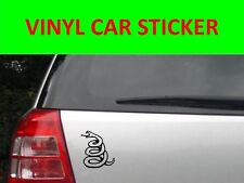 SNAKE METALLICA BLACK STICKER CAR VINYL VISIT OUR STORE WITH MANY MORE MODELS