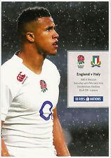 England v Italy Six Nations 14 Feb 2015 Twickenham RUGBY PROGRAMME