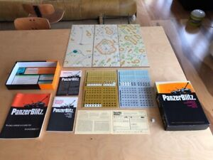Panzer Blitz Avalon Hill Board Game 1970's  Unused Including War gamer's Guide