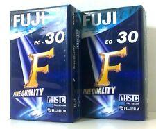 FUJI EC 30 - VHS C VHS-C 30 MINUTI - VIDEOCASSETTE NUOVE - VHS-C VIDEOTAPE - NEW
