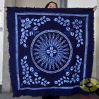 """Handmade Indigo Tie Dye Rural Style Tablecloth Table Cover Tapestry 43""""x43"""""""