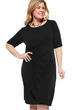 NWT CONNECTED BLACK JERSEY SHEATH CAREER DRESS SIZE 16 W WOMEN $98