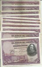 New listing Spain Lot 10x 50 Pesetas 1928. Vf Condition. 3Rw 23 abril