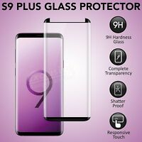 For Samsung Galaxy S9 PLUS 3D Full Curved Tempered Glass Screen Protector Black