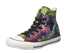 NEW CONVERSE ALL STAR HI CANVAS SNEAKER SHOES WOMENS 11 MENS 9 FLORAL FREE SHIP