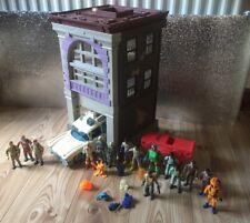 Vintage real Ghostbusters figurines jouets véhicule Ecto 1 plus mince figures Job Lot