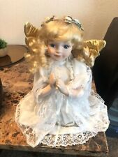 Pre-Owned Antique Christmas Kneeling Angel Approx. 12� (Not a Tree Topper)